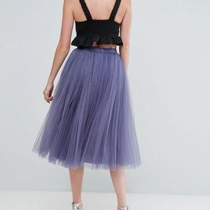 9297642cae Little Mistress Skirts - Little Mistress Tall Midi Tulle Prom Skirt